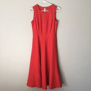Talbots Dress | A-line | Red | Belt & pockets